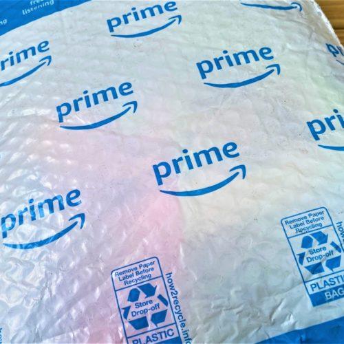 Amazon plastic bubble-lined mailer